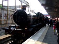 The locomotives take water in Platform 12 at Crewe