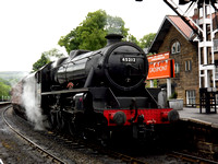 Black Five 4-6-0 No 45212 is at Grosmont